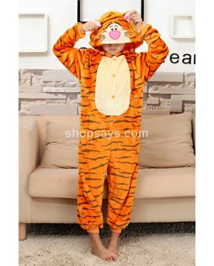 Tiger Kids Children Pajamas Cosplay Kigurumi Onesie Anime Costume Sleepwear