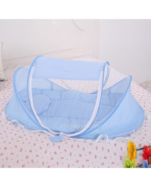 Portable Crib Foldable Mosquito Net Tent for Baby Infant with Mattress Pillow