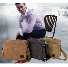 Multi Compartment Messenger Shoulder Travel Canvas Bag
