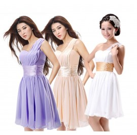 Bridesmaid Cocktail Toga Dinner Evening Party Dress