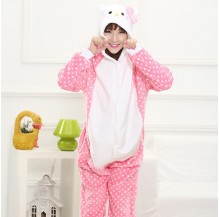 Kitty Unisex Adult Pajamas Cosplay Kigurumi Onesie Anime Costume Sleepwear