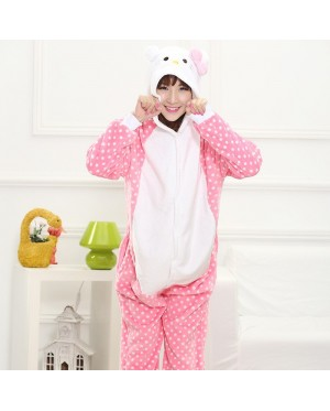 Kitty Unisex Adult Pajamas Cosplay Kigurumi Onesie Anime Costume Sleepwear