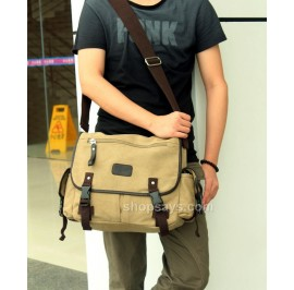Men Canvas Messenger Bag #2
