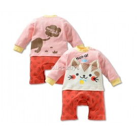 CAT-Theme Cotton Baby Romper