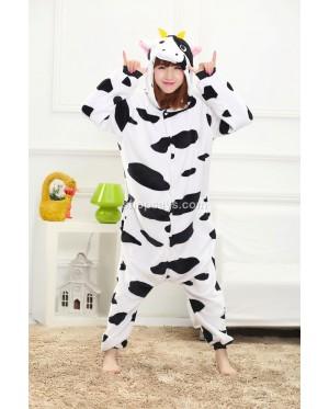 Milk Cow Unisex Adult Pajamas Cosplay Kigurumi Onesie Anime Costume Sleepwear