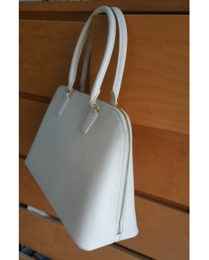 Guy Laroche Saffiano Leather Tote bag - Cream