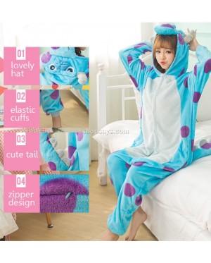 Sullivan Sully Adult Pajamas Cosplay Kigurumi Onesie Costume Sleepwear