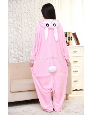 Pink Rabbit Adult Pajamas Cosplay Kigurumi Onesie Costume Sleepwear