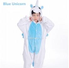 Blue Unicorn Kids Children Pajamas Cosplay Kigurumi Onesie Anime Costume