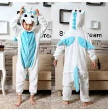 Blue Unicorn Kids Children Pajamas Cosplay Kigurumi Onesie Anime Costume