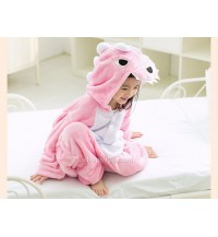 Pink Dinosaur Kids Children Pajamas Cosplay Kigurumi Onesie Anime Costume
