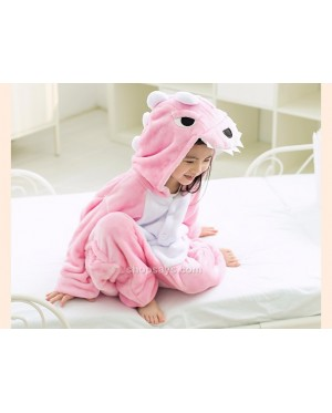Pink Dinosaur Kids Children Pajamas Cosplay Kigurumi Onesie Anime Costume