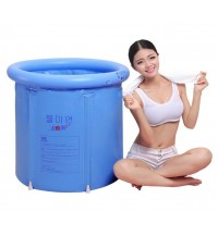 Inflatable Foldable Bath Tub Spa for adult (Light blue)- small