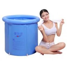 Inflatable Foldable Bath Tub Spa for adult (Light blue)- medium