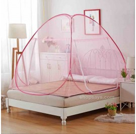 Self Standing Foldable Mosquito Net/ Kelambu Nyamuk (Cherry)