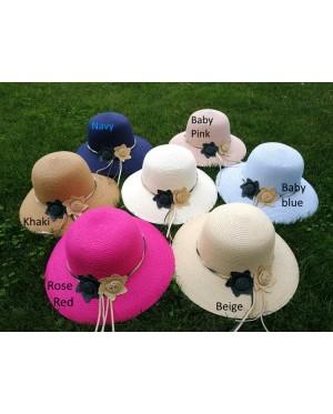 Lady Summer Sun Beach Straw Hat Sun Cover