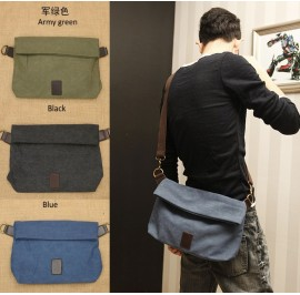 Men Stylish Canvas Sling Shoulder Crossbody Beg Lelaki