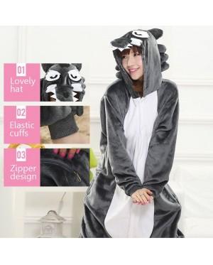 Wolf Adult Unisex Pajamas Cosplay Kigurumi Onesie Anime Costume Sleepwear