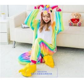 Rainbow Unicorn Adult Unisex Pajamas Cosplay Kigurumi Onesie Costume Sleepwear