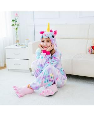 Stars Unicorn Adult Unisex Pajamas Cosplay Kigurumi Onesie Costume Sleepwear