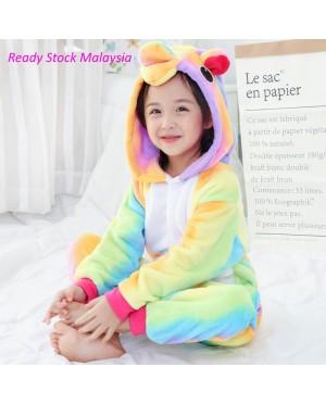 Rainbow Unicorn Kids Children Pajamas Cosplay Kigurumi Onesie Anime Costume