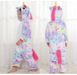 Stars Unicorn Kids Children Pajamas Cosplay Kigurumi Onesie Anime Costume