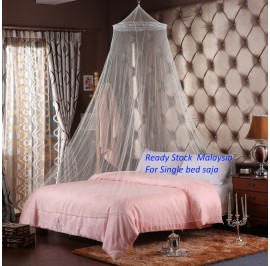 Lace Canopy Netting Round Dome Mosquito Net Kelambu (Single to Queen bed)