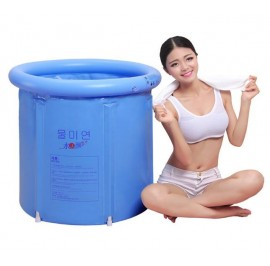 Inflatable Foldable Bath Tub Spa for adult (Light blue)- Large