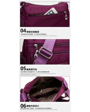 Women Ladies Water-resistant Crossbody Sling Shoulder Bag