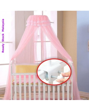 Mosquito Net Canopy with Clamp Stand for Baby crib