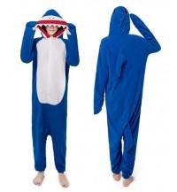 Blue Shark Adult Unisex Pajamas Cosplay Kigurumi Onesie Costume Sleepwear