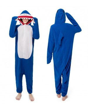 Blue Shark Adult Unisex Pajamas Cosplay Kigurumi Onesie Costume Sleepwear