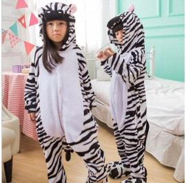 Zebra Kids Children Pajamas Cosplay Kigurumi Onesie Anime Costume