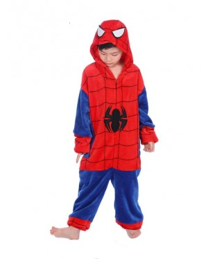Spider Kids Children Pajamas Cosplay Kigurumi Onesie Anime Costume