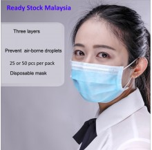 {Local MY} Good quality 3 ply Disposable Face Mask {Ready Stock}