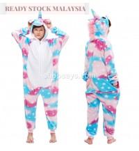 Blue star Unicorn Kids Children Pajamas Cosplay Kigurumi Onesie Anime Costume