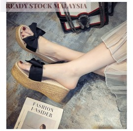 Ribbon Wedge Stylish Platform Ladies Shoes