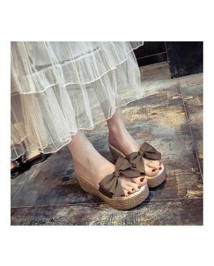 Ribbon Wedge Stylish Platform Ladies Shoes